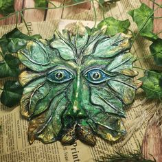 Clay Greenman - Made to Order. £20.00 Samhain Halloween, Eye Base, Beautiful Gifts, Halloween Themes, Gifts For Friends, September, Pottery, Clay, Autumn
