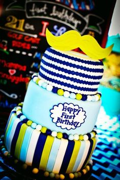 little man birthday ideas | 1st Birthday Boy Little Man Mustache Bash Party Planning Ideas