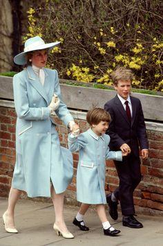 Princess Diana, Prince William & Peter Phillips 1987