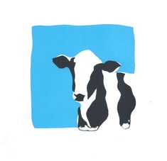 Screen Print Examples - Screen print of a cow. See more examples of screen prints from Slamseys printmaking classes, privat - Cow Drawing, Figure Drawing, Graphic Cow, Graphic Prints, Year Of The Cow, Cow Illustration, Food Graphic Design, Cow Art, Papi