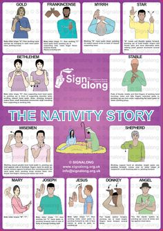 The Nativity Story Poster, J) Posters, Signalong Store Sign Language Chart, Sign Language Phrases, Sign Language Alphabet, Learn Sign Language, Sign Language Interpreter, British Sign Language, Baby Sign Language, Speech And Language, Makaton Printables