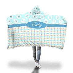 Blue Owls with Diamonds Hooded Blanket – Designing on Wine Little Owl, Hooded Blanket, Snuggles, Owls, Baby Car Seats, Blankets, Diamonds, Vibrant, Cozy