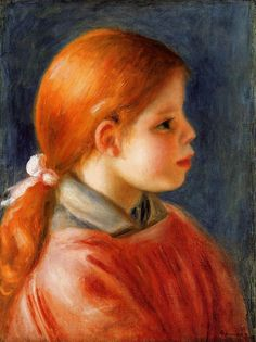 1888 - Head of a Young Woman - Pierre-Auguste Renoir