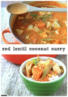 Red Lentil Coconut Curry is sweet, spicy, and a perfect vegetarian ...