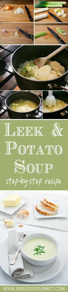 Leek & Potato Soup Leek and Potato Soup is the ultimate comfort food. Easy to make and delicious.Leek and Potato Soup is the ultimate comfort food. Easy to make and delicious. Soup Recipes, Vegetarian Recipes, Cooking Recipes, Healthy Recipes, Easy Recipes, Healthy Meals, Healthy Food, Recipies, Potato Leek Soup
