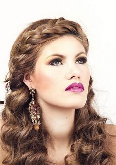 Headband Braid with Waves Long Brown Homecoming Hairstyle » Homecoming Hairstyles