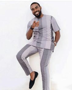 In this post, you'd get to see some of the hottest and coolest senator suit styles as sported by West African men in See them here African Shirts For Men, African Dresses Men, African Attire For Men, African Clothing For Men, Nigerian Men Fashion, African Print Fashion, African Wear Designs, Men Design, Suit Fashion
