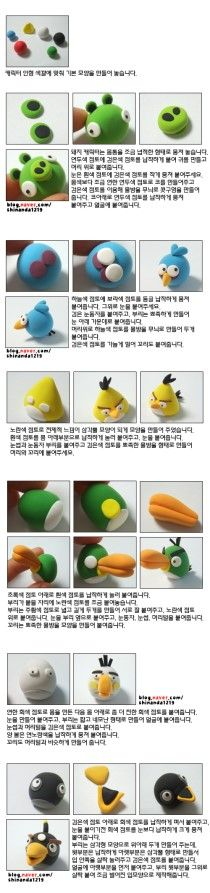 Angry birds in clay