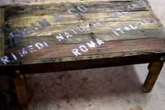 Rustic Coffee Table made from upcycled wood by RustedCreek on Etsy, $88.00