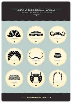 Movember 2013   Moustache Poster Collection  By OuYeah!