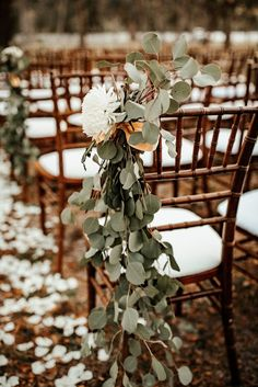 A Whimsical November Wedding in Florida with a Huge Bridal P .- A Whimsical November Wedding in Florida with a Huge Bridal Party Wedding Wedding Aisle Outdoor, Winter Wedding Decorations, Ceremony Decorations, Wedding Themes, Outdoor Weddings, Outdoor Winter Wedding, Wedding Venues, Beach Weddings, Outdoor Wedding Flowers