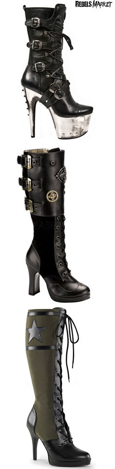 Shop goth boots at RebelsMarket!