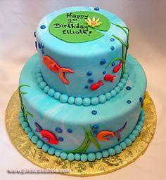 Fish Bowl Birthday Cake toddler