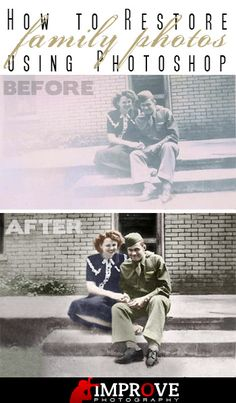 Old Photo Restoration in Photoshop [Duel] – Improve Photography Photoshop For Photographers, Photoshop Photography, Photography Tutorials, Digital Photography, Photography Backgrounds, Adobe Photoshop, Photoshop Tutorial, Photoshop Elements, Photoshop Actions