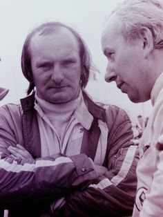 Motor Cycle Champions and F1 drivers. Mike Hailwood and John Surtees