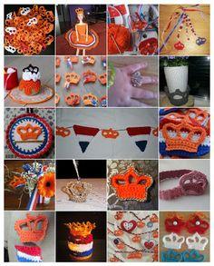 Haken voor kinderen Dutch Tulip, Going Dutch, Kings Day, Crochet Gratis, Easter Crochet, Crochet Projects, Crochet Necklace, Crochet Patterns, 5 Mei