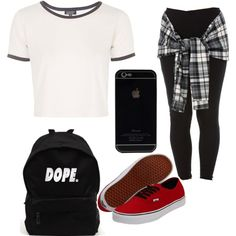 A fashion look from August 2015 featuring Topshop t-shirts and Vans sneakers. Browse and shop related looks.