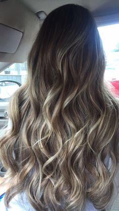 brown/blonde bayalage I got done today!