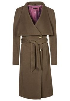 Sisley - Classic coat - brown Wrap Coat 8f9daa5a308
