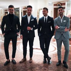 """antonimanuel: """"Tag a like these dapper brothers in x x & 😎🔑💯 """" Der Gentleman, Gentleman Style, Mens Fashion Sweaters, Men Sweater, Dapper Suits, Fashion Corner, Tuxedo For Men, Men Style Tips, Business Fashion"""