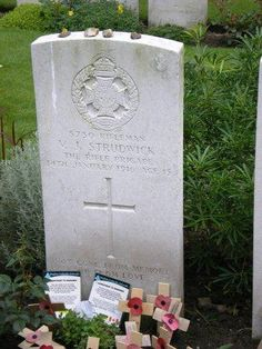 """Wondering Why in Flanders' Fields: the First World War Battlefields of Belgium"" written by Jennifer Young.The grave of a boy soldier, Essex Farm Cemetery"