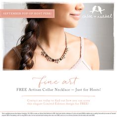 Take in some fine art! Earn this FREE limited edition Artisan Necklace in Fall's lush hues — JUST for Hosts! Contact me today for more info!