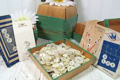 Vintage Variety of Mother of Pearl Buttons by DivineOrders on Etsy, $36.00