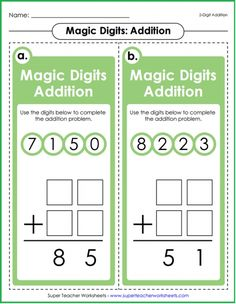 Your students will love Magic Digits math games! Available for addition, subtraction, multiplication, and division.