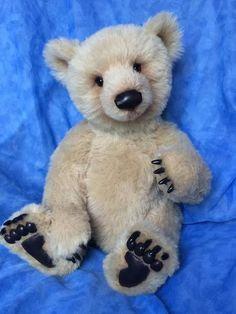 Jasper Amazing Fossil Moss OOAK Bear Cub By Natalie Bell/Fossil Moss Bears - Bear Pile