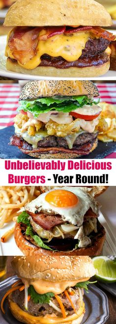 Unbelievably Delicious Burgers You Can Make All Year Long (Hamburger Sandwich Recipes) Best Grilled Burgers, Gourmet Burgers, Delicious Burgers, Sandwich Recipes, Beef Recipes, Cooking Recipes, Drink Recipes, Carne Picada, Wrap Sandwiches