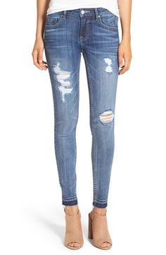 Free shipping and returns on Vigoss 'Chelsea' Destroyed Skinny Jeans at Nordstrom.com. Gentle fading, threadbare patches and released hems add a trendy, lived-in look to skinny jeans cut from comfy stretch denim.