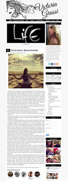 Cantinho do blog Layouts e Templates para Blogger: Personalizaçao de Blog Feminino e Face Victoria Grassi