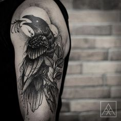 Resultado de imagem para man forearm tattoo crow