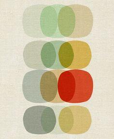 Keep It Simple Circle - Art Reproduction Giclee Print modern artwork