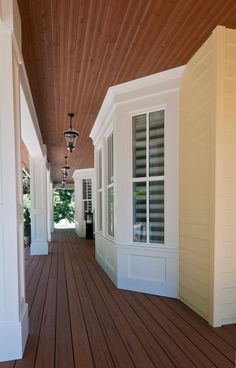 Love how the soffit on the porch is not white like the trim.