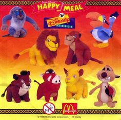 """Lion King II"" Stuffed Toys (1998) 