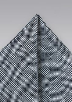 Dapper Glen Check Pocket Square in Charcoal, $14.90 | Cheap-Neckties.com