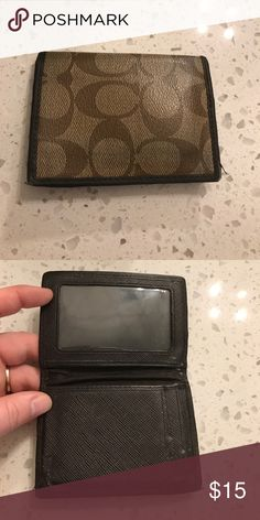 Coach men's front pocket wallet Good used condition. Plenty of life left Coach Bags Wallets