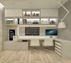 Leading 30 Stunning Home Office Layout - Study Room Home Office Table, Office Interiors, Home Office Layouts, Home, Home Office Filing Cabinet, Office Layout, Small Home Offices, Home Office Design, Office Design