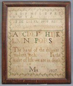 Sampler dated 1837 | Martyn Edgell Antiques Ltd.