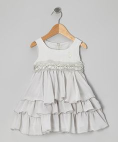 Take a look at this Gray Frill Babydoll Dress - Toddler & Girls by Designer Kidz on #zulily today!