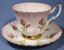 Taza de té ROYAL ALBERT Pink y platillo, rosa se descolora taza de té blanco…