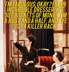 Karen Walker (played by Megan Mullally) from Will & Grace. I love this woman.
