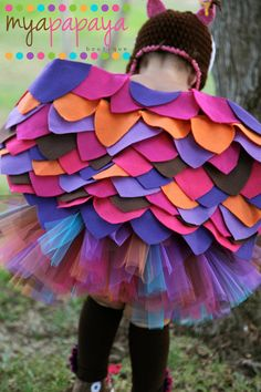 Owl Costume Tutu ...I think I could revamp this into a mermaid costume and DIY