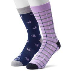 Men's Funky Socks 2-pack Novelty Socks, Size: 6-12, Blue (Navy)