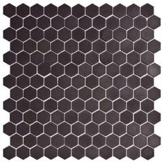 Merola Tile, Old World Hex Antique Black 12 in. x 11-3/4 in. Unglazed Porcelain Mosaic Floor/Wall Tile-DISCONTINUED, FKO1HEXB at The Home Depot - Tablet