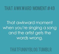 Happens all the time. Especially with Ray LaMontagne, right @Kate Petrielli?