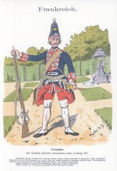 Band XVIII #27.- Frankreich. Grenadier der Garden unter Ludwig XV.