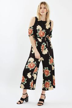 Floral Cold Shoulder Jumpsuit - New In This Week - New In - Topshop Europe