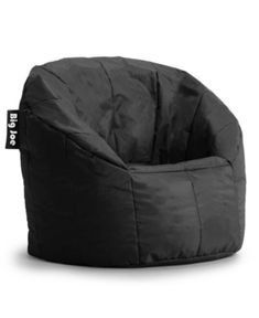 Bea Coasta Faux-Leather Bean Bag Chair, Quick Ship - Stretch Limo Black
